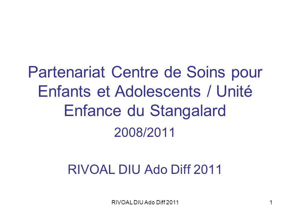 RIVOAL DIU Ado Diff 20111 Partenariat Centre de Soins pour Enfants et Adolescents / Unité Enfance du Stangalard 2008/2011 RIVOAL DIU Ado Diff 2011
