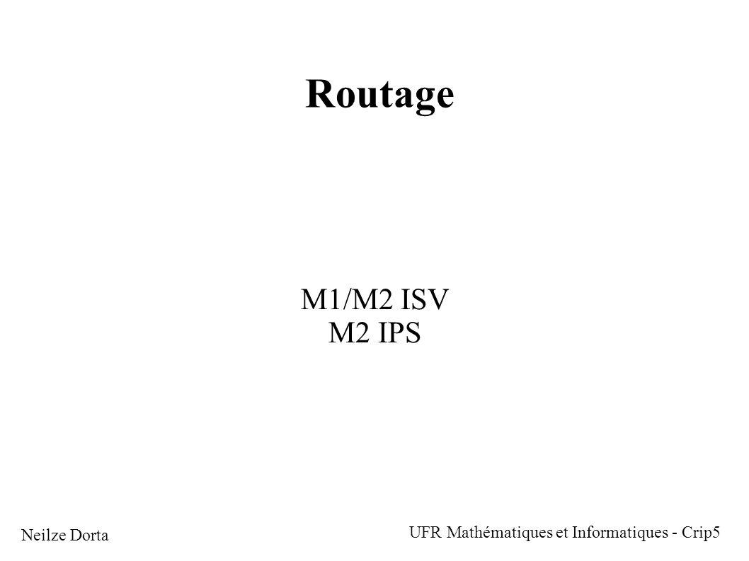 Routage M1/M2 ISV M2 IPS Neilze Dorta UFR Mathématiques et Informatiques - Crip5