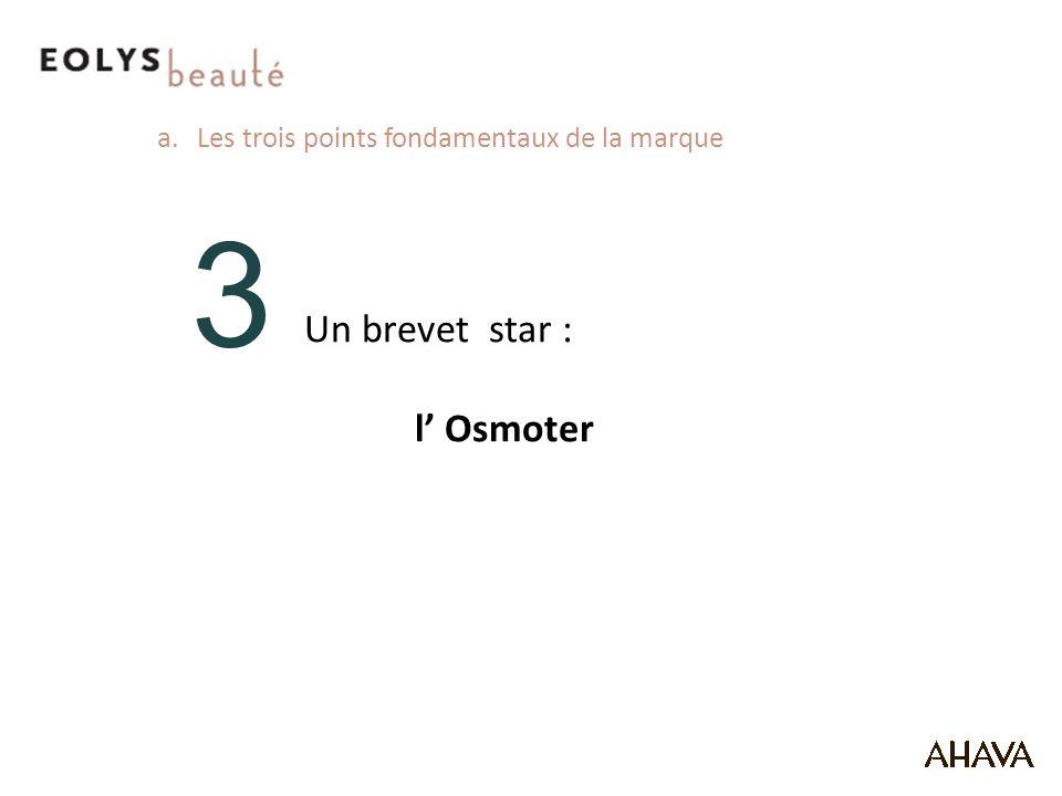 3 Un brevet star : l Osmoter a.Les trois points fondamentaux de la marque