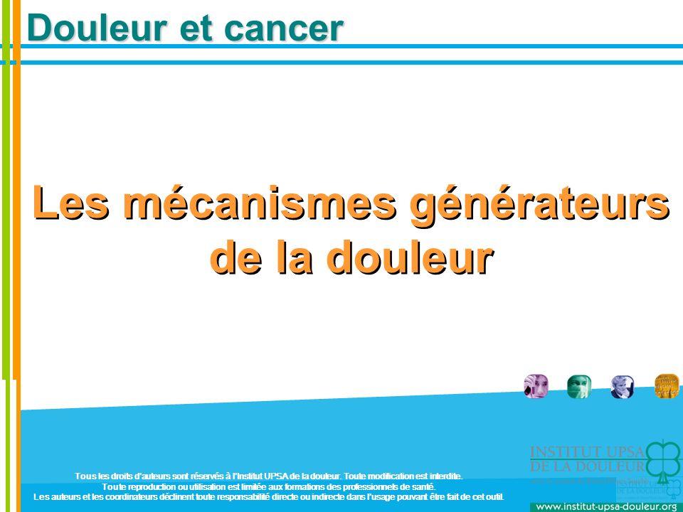 Mécanismes générateurs (3) Douleurs par excès de nociception (les plus fréquentes.