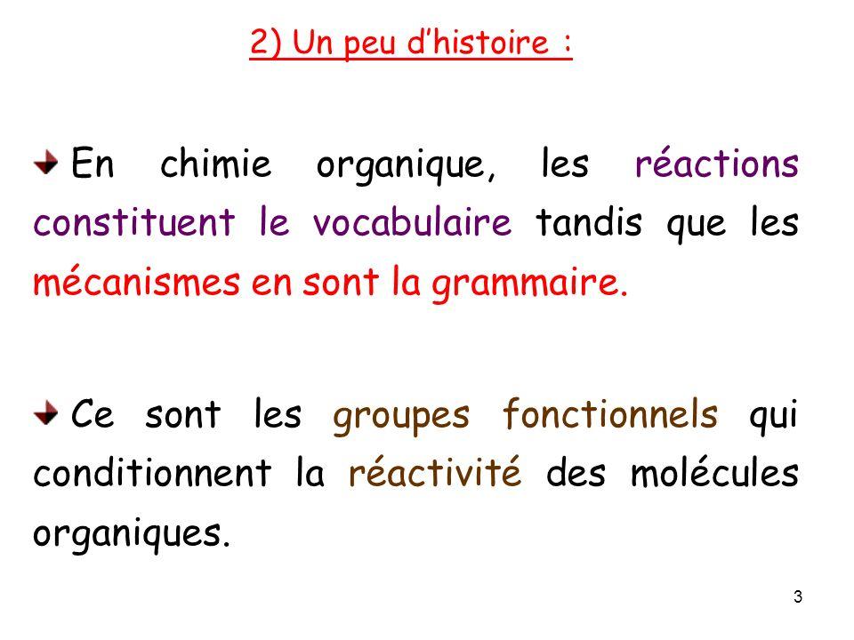 En chimie organique, les réactions constituent le vocabulaire tandis que les mécanismes en sont la grammaire.