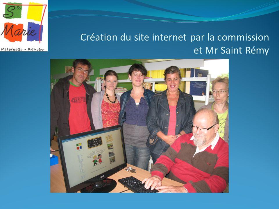 Création du site internet par la commission et Mr Saint Rémy