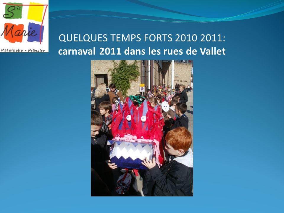 QUELQUES TEMPS FORTS 2010 2011: carnaval 2011 dans les rues de Vallet