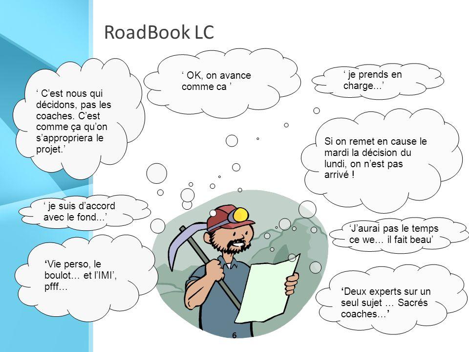 6 Jaurai pas le temps ce we… il fait beau OK, on avance comme ca RoadBook LC Vie perso, le boulot… et lIMI, pfff… Cest nous qui décidons, pas les coac
