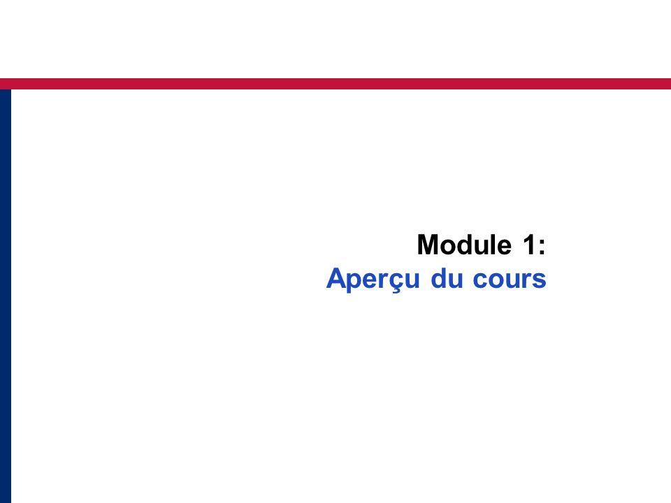 Module 1: Aperçu du cours
