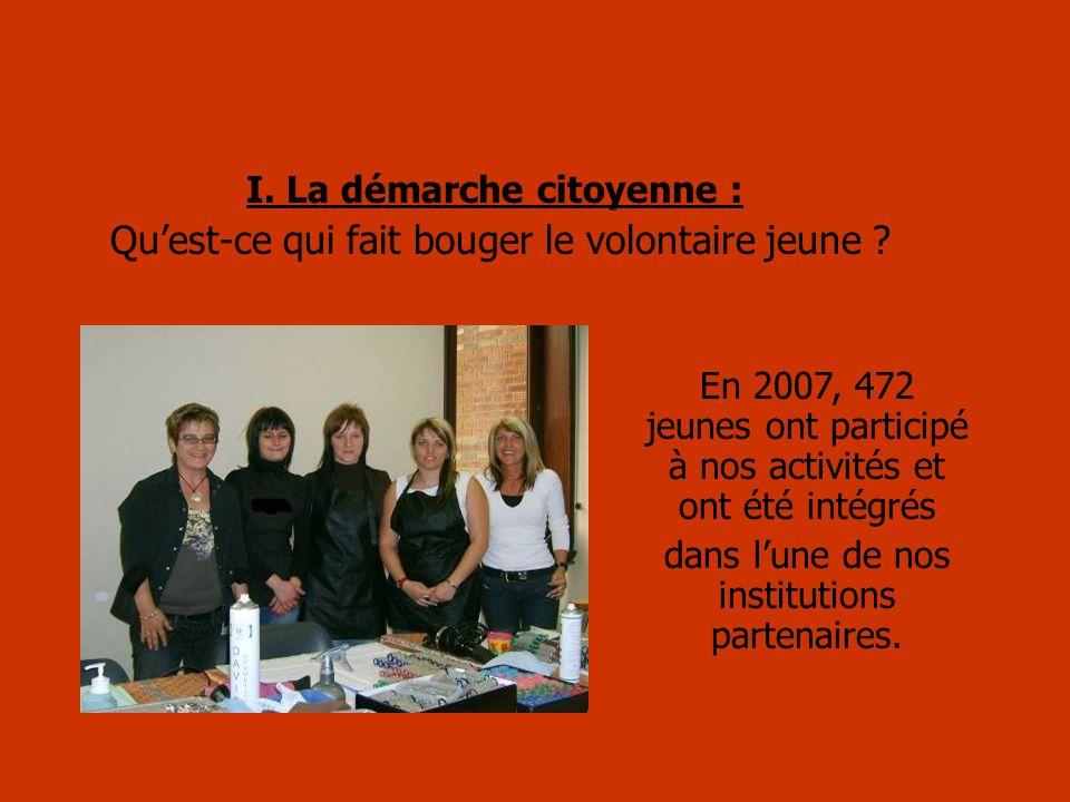 I.La démarche citoyenne : Quest-ce qui fait bouger le volontaire jeune .