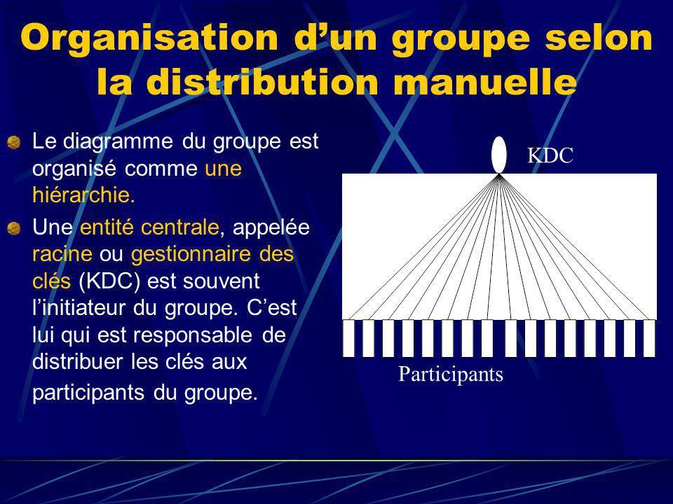 Organisation dun groupe selon la distribution manuelle Le diagramme du groupe est organisé comme une hiérarchie.