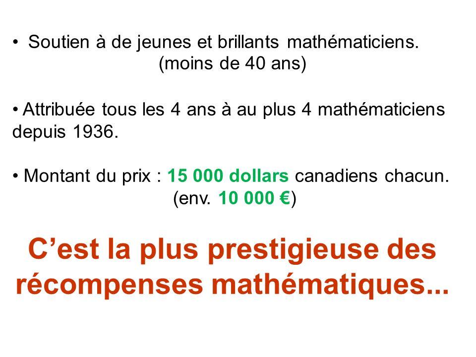 Soutien à de jeunes et brillants mathématiciens.