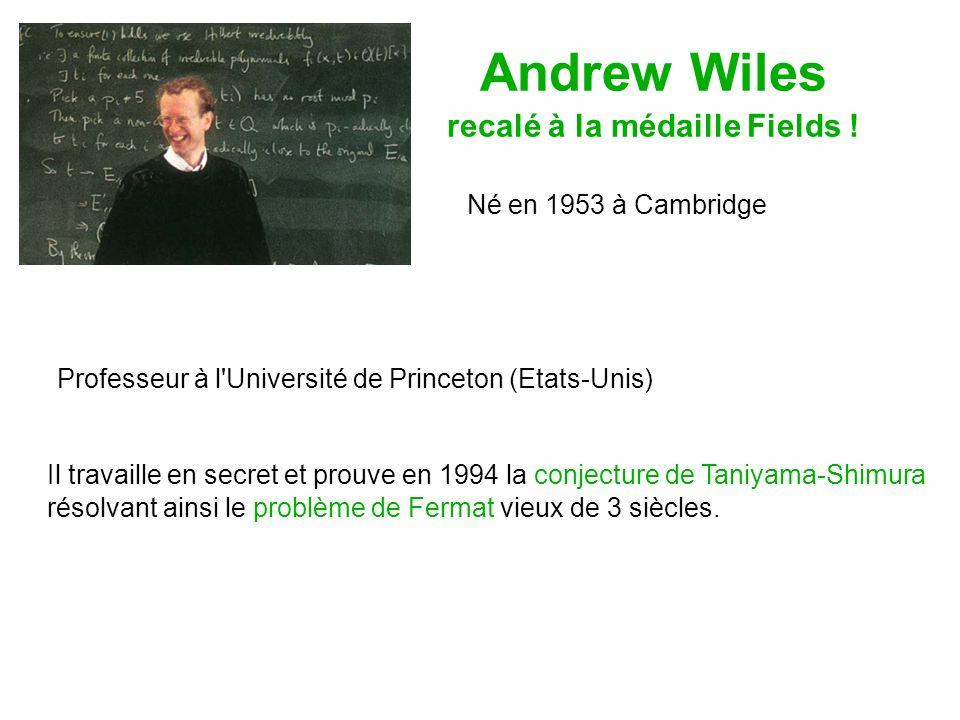 Andrew Wiles recalé à la médaille Fields .