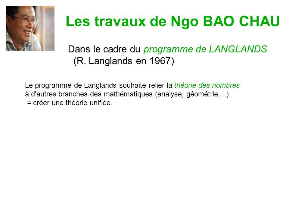 Les travaux de Ngo BAO CHAU Dans le cadre du programme de LANGLANDS (R.