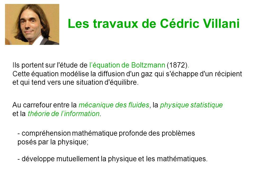 Ils portent sur l étude de léquation de Boltzmann (1872).