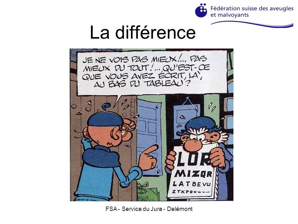 FSA - Service du Jura - Delémont La différence