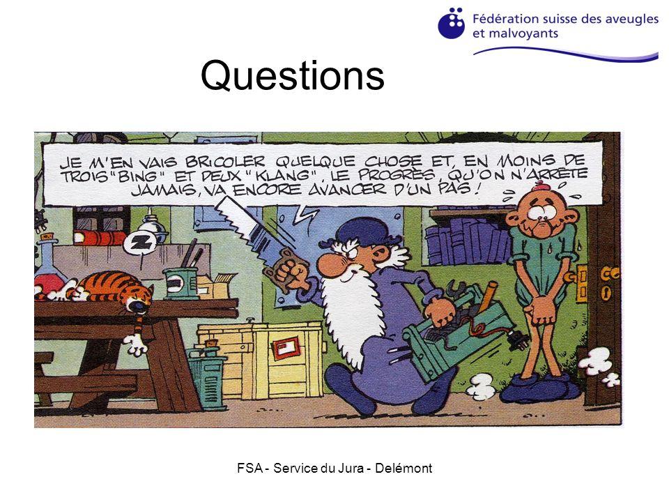 FSA - Service du Jura - Delémont Questions