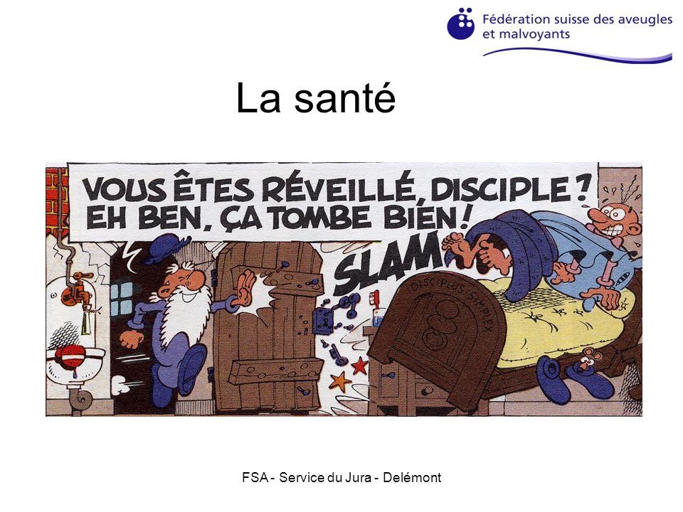 FSA - Service du Jura - Delémont 2.Le respect de lespace Respecter lordre sur sa place de travail, il est difficile de retrouver ses affaires avec un problème visuel.