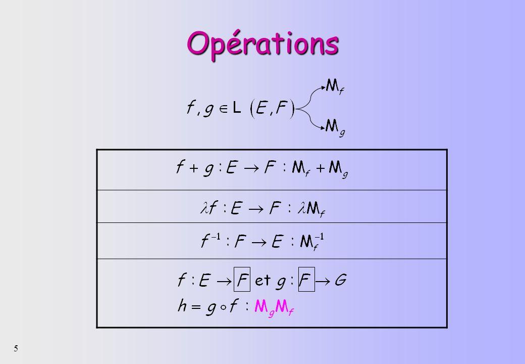 5 Opérations