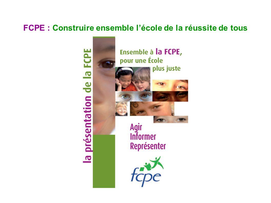 FCPE : Construire ensemble lécole de la réussite de tous