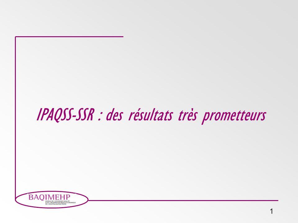 1 IPAQSS-SSR : des résultats très prometteurs