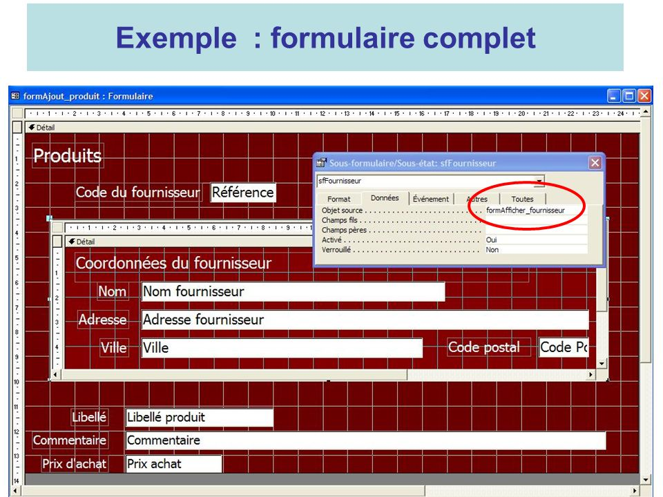 19 Exemple : formulaire complet