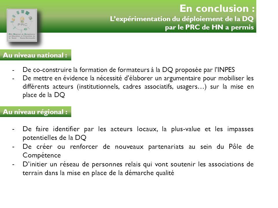 -De co-construire la formation de formateurs à la DQ proposée par lINPES -De mettre en évidence la nécessité délaborer un argumentaire pour mobiliser