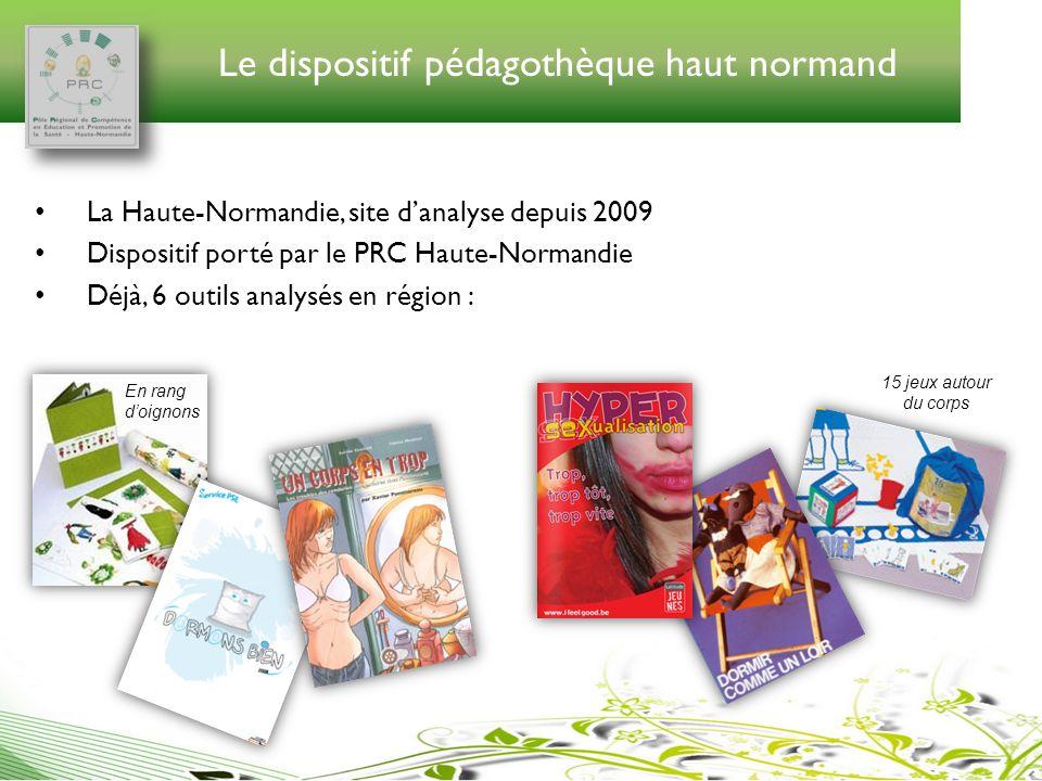 Le dispositif pédagothèque haut normand La Haute-Normandie, site danalyse depuis 2009 Dispositif porté par le PRC Haute-Normandie Déjà, 6 outils analy