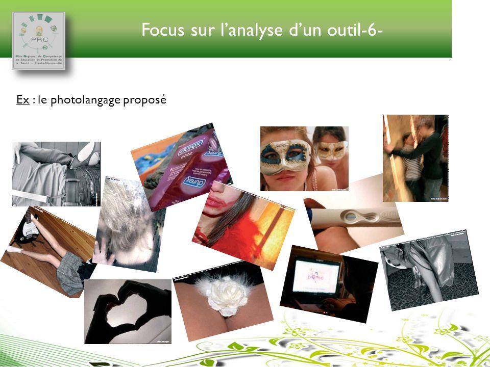 Focus sur lanalyse dun outil-6- Ex : le photolangage proposé
