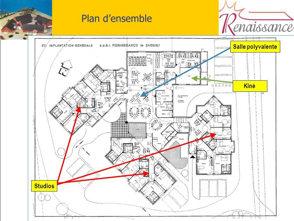 6 Plan densemble Salle polyvalente Studios Kiné
