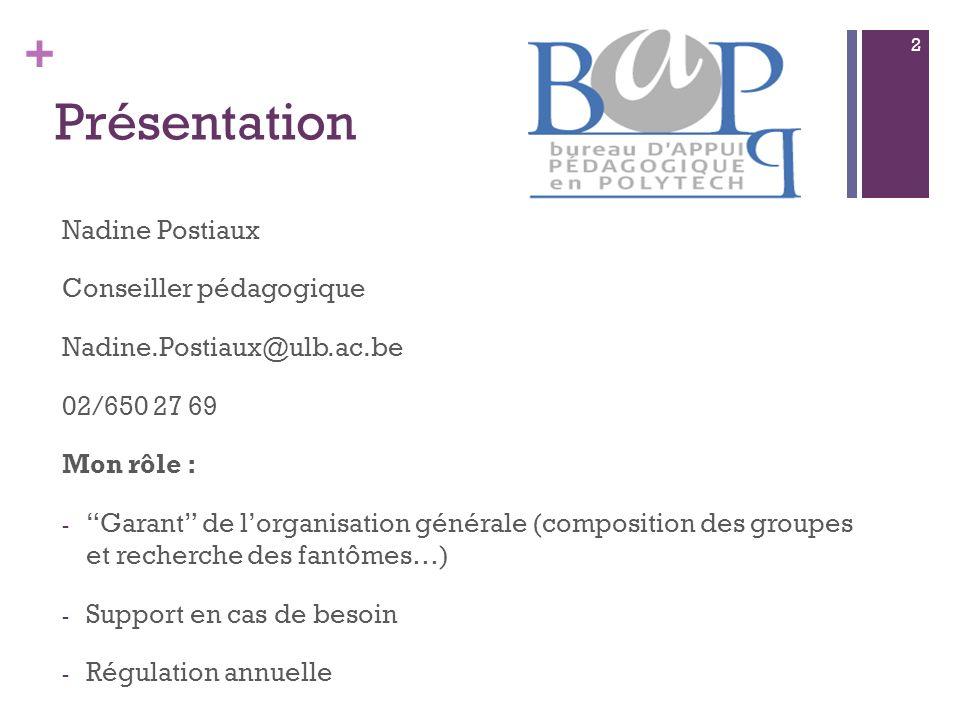 + Mémo Quelques changements : PDF et consignes de rapport écrit.