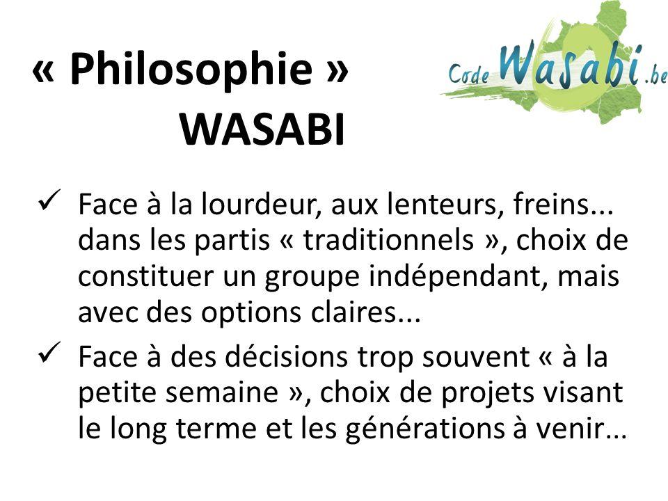 « Philosophie » WASABI Face à la lourdeur, aux lenteurs, freins...
