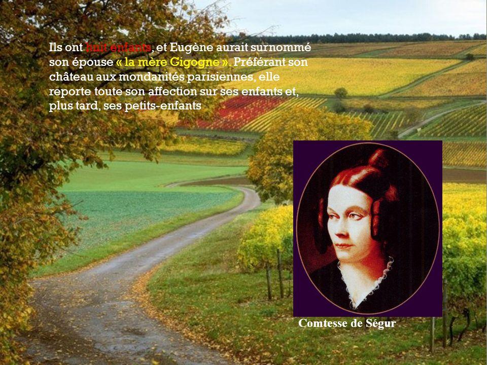 Ils ont huit enfants, et Eugène aurait surnommé son épouse « la mère Gigogne ».