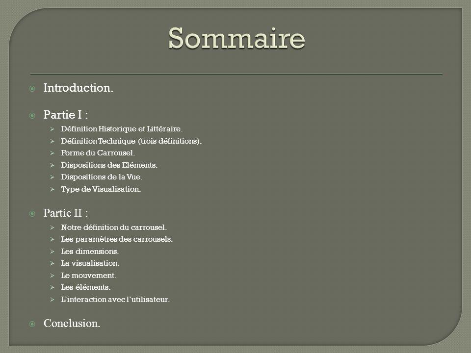 Introduction. Partie I : Définition Historique et Littéraire.