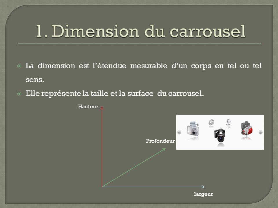 La dimension est létendue mesurable dun corps en tel ou tel sens.
