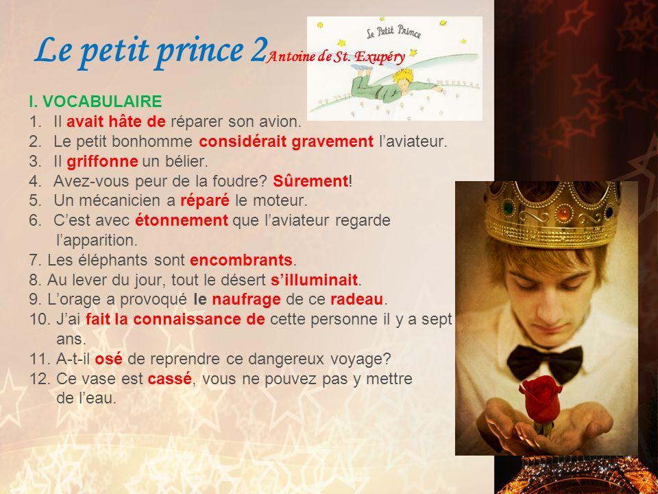 Le petit prince Antoine de St. Exupéry