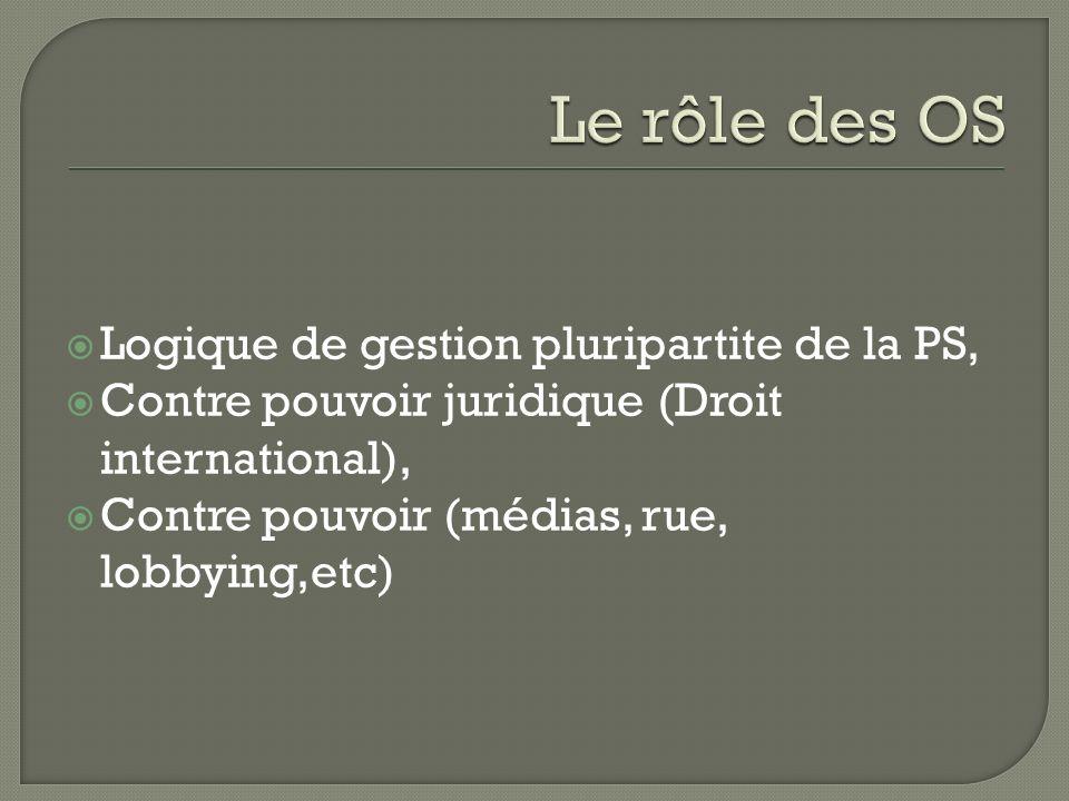Logique de gestion pluripartite de la PS, Contre pouvoir juridique (Droit international), Contre pouvoir (médias, rue, lobbying,etc)