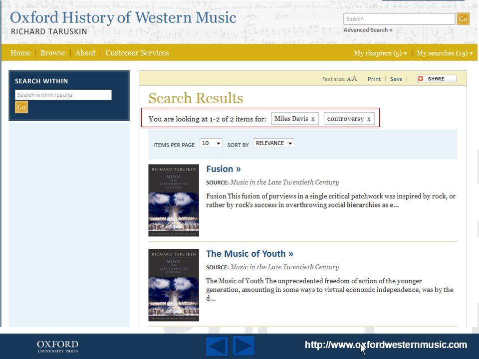http://www.oxfordwesternmusic.com Vous pouvez trier les résultats de recherche par intérêt ou par titre......