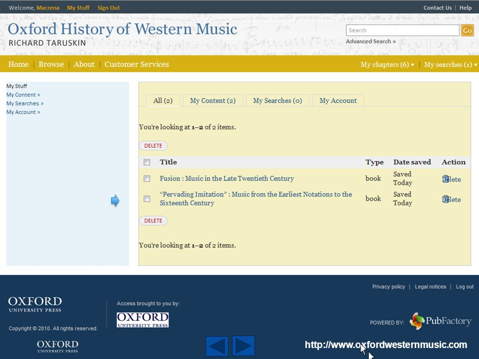 http://www.oxfordwesternmusic.com training@oup.com ********