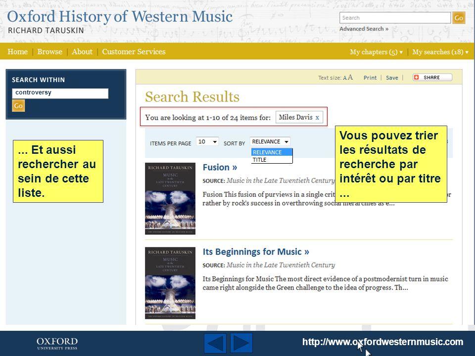 Pour lancer votre recherche, il suffit de taper le mot clé dans la case en haut de la page.