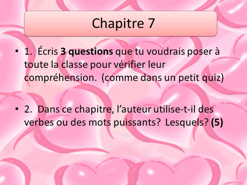Chapitre 7 1.