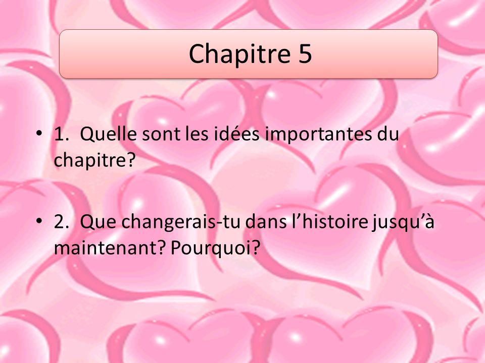 1.Quelle sont les idées importantes du chapitre. 2.