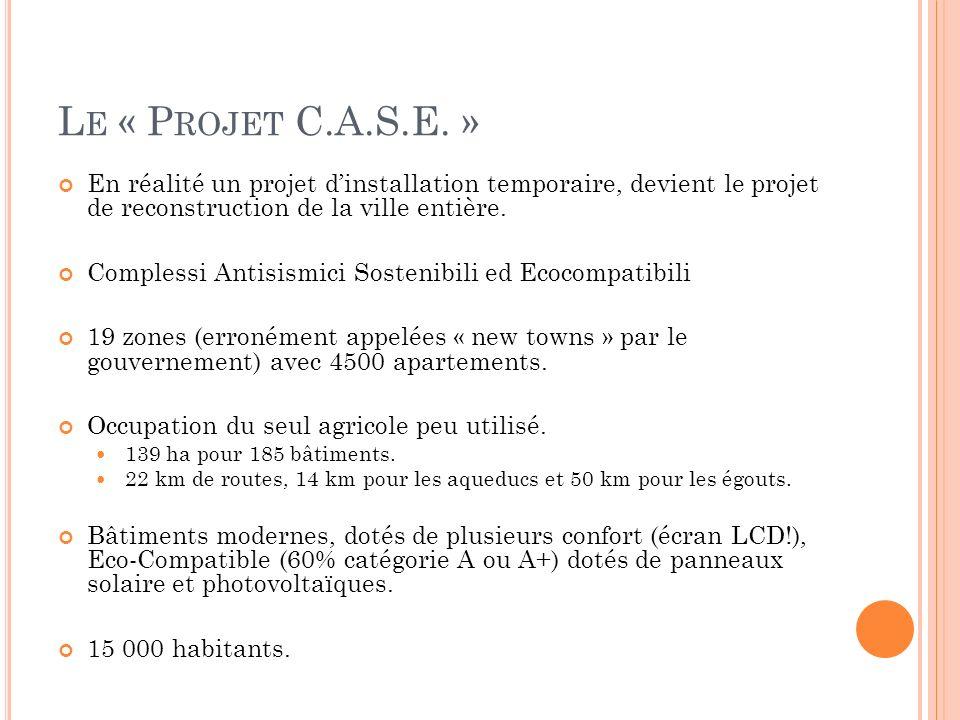 L E « P ROJET C.A.S.E.» Mais.. Aucun service. Le projet C.A.S.E.