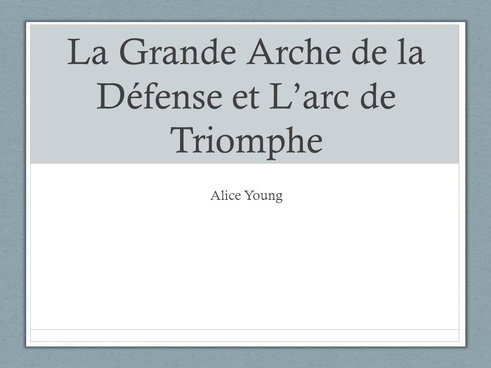 La Grande Arche de la Défense et Larc de Triomphe Alice Young