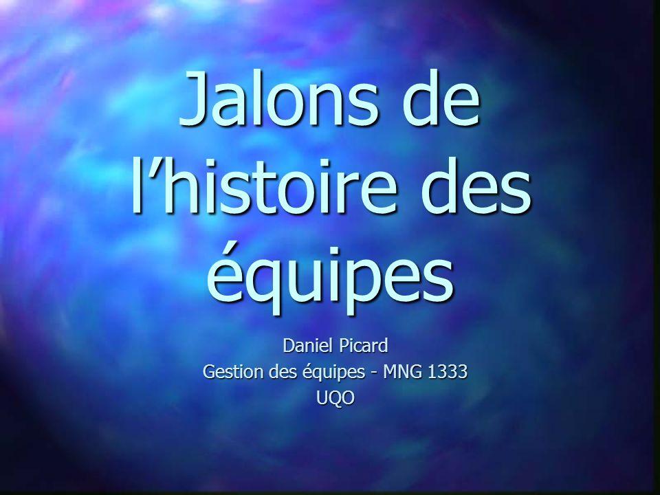 Jalons de lhistoire des équipes Daniel Picard Gestion des équipes - MNG 1333 UQO