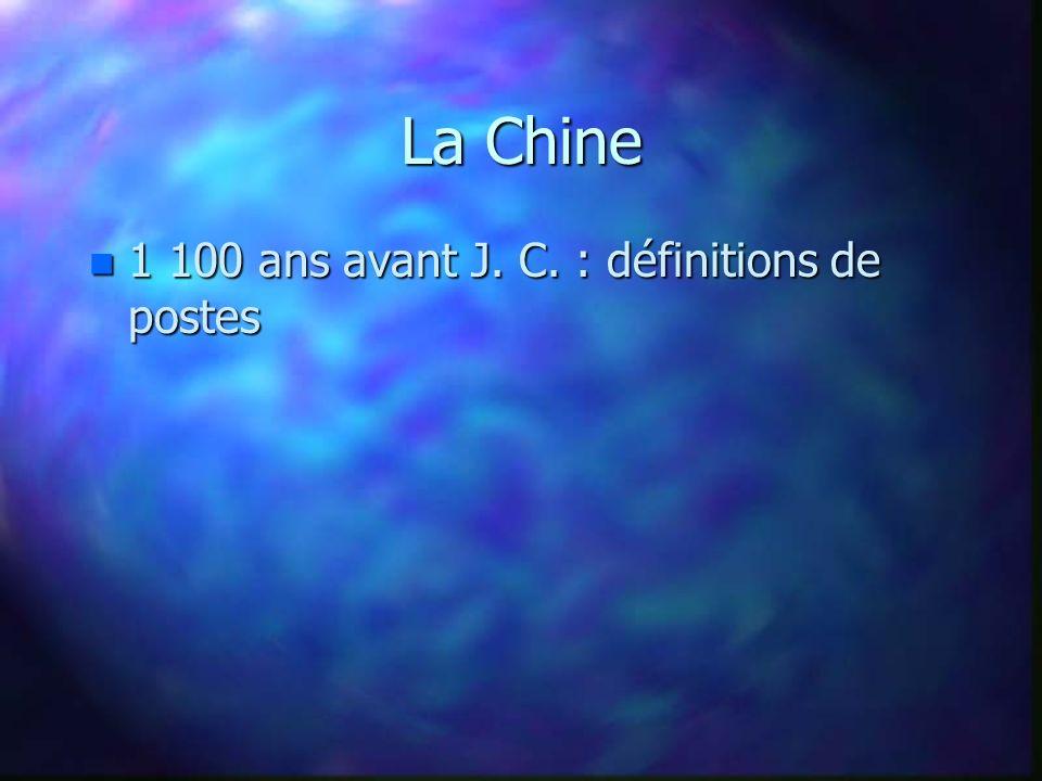 La Chine n 1 100 ans avant J. C. : définitions de postes