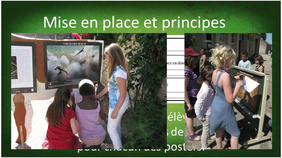Les 3 posters trouvés, les élèves peuvent glaner les informations demandées pour chacun des posters.