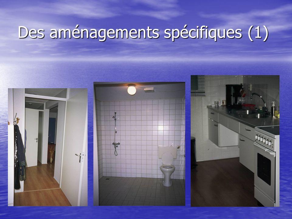Des aménagements spécifiques (1)