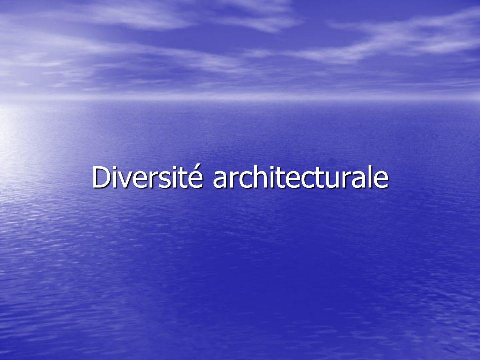 Diversité architecturale