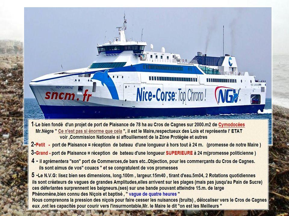 Projet dun Port entre Le Cros et Saint Laurent présenté par Christian Estrosi au Parc Phoenix le 12 Mai 2013 Mr Estrosi demande,aux Maires des 2 munic
