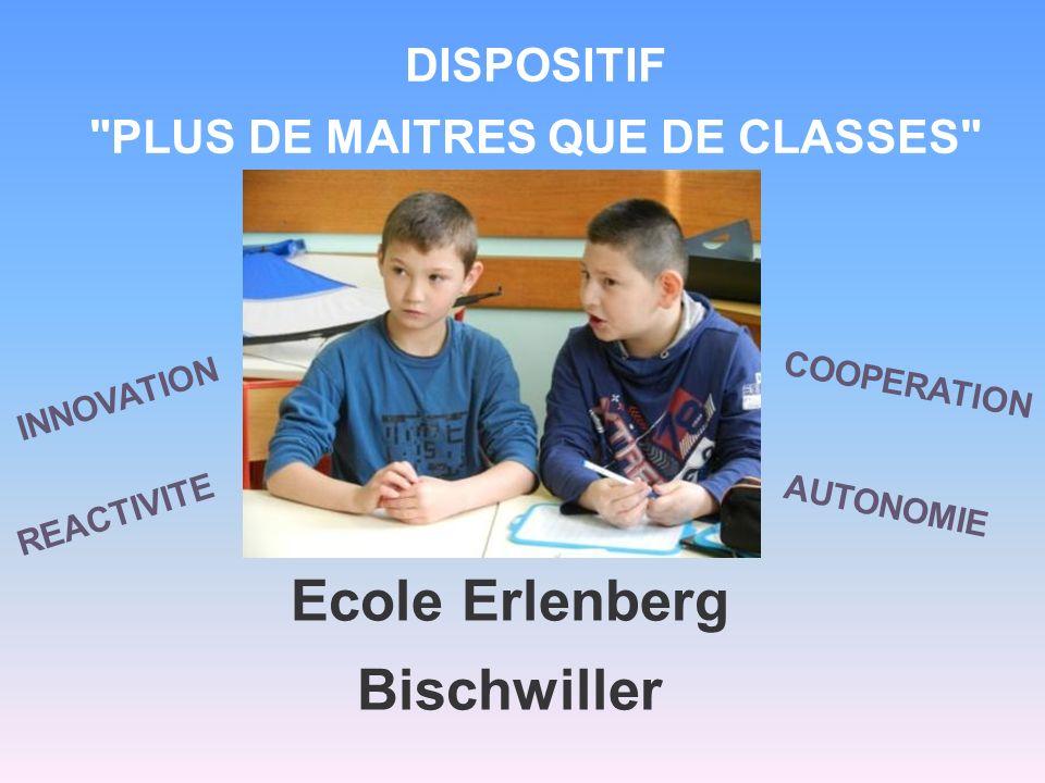 PRESENTATION DE LECOLE L école Erlenberg de Bischwiller est une école élémentaire de 10 classes au public scolaire hétérogène, en grande partie allophone.