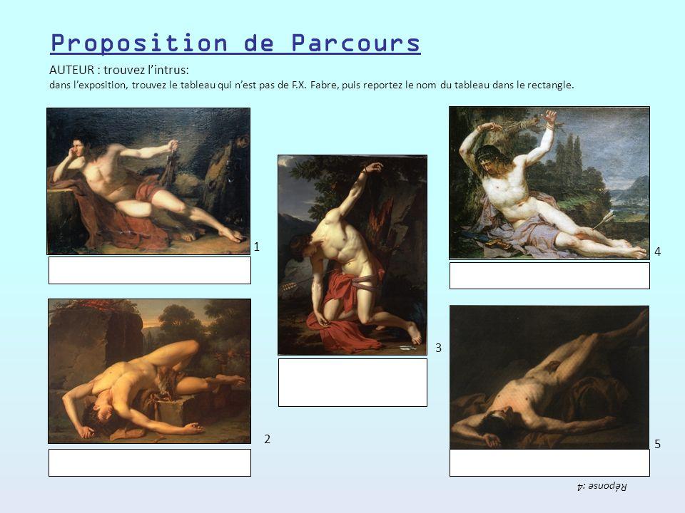 AUTEUR : trouvez lintrus: dans lexposition, trouvez le tableau qui nest pas de F.X.