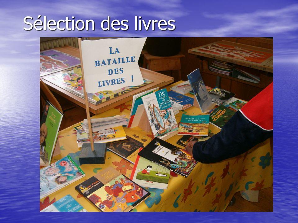 Sélection des livres
