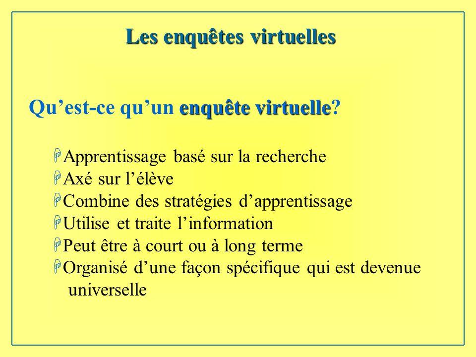 enquête virtuelle Quest-ce quun enquête virtuelle.